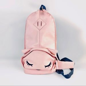 Pooh-Chan Sling Backpack Sleepy Cat Purse